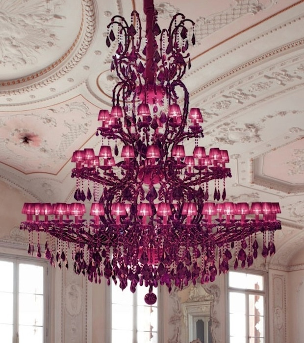 #Purple #Chandelier #light by Masiero with 75 shades
