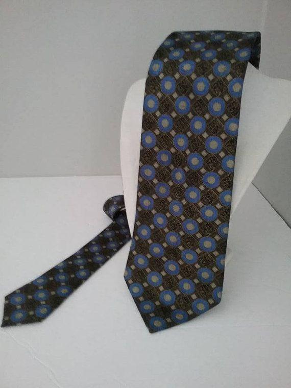 Italian silk tie necktie white gold Purple gray big Black polka dot