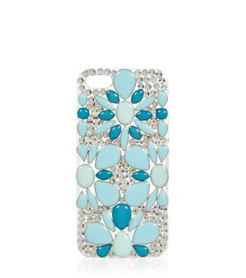 New Look Blue Flower Jewelled iPhone 5 Case #technology #covetme