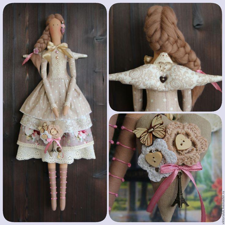 Купить Тильда ангел - комбинированный, тильда, тильда кукла, тильда ангел, интерьер, интерьерная кукла