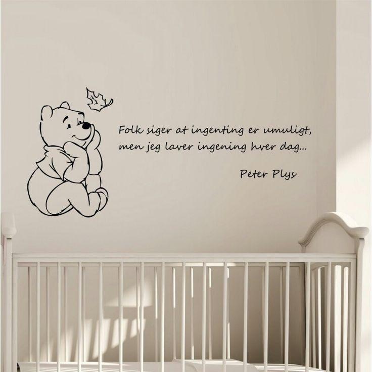 """Citat: """"folk siger ingenting er umuligt, men jeg laver ingenting hver dag... -peter plys"""
