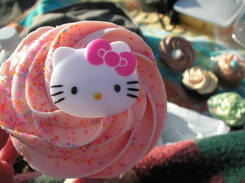 Hello Kitty cute fizzy candy cupcake