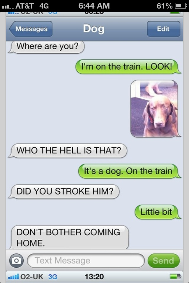 Text from DoG! Too funny