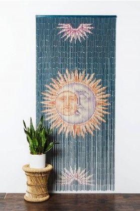 Bamboo Curtain Sun and Moon