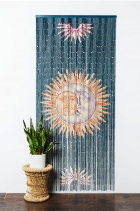 Bamboo Curtain Sun and Moon