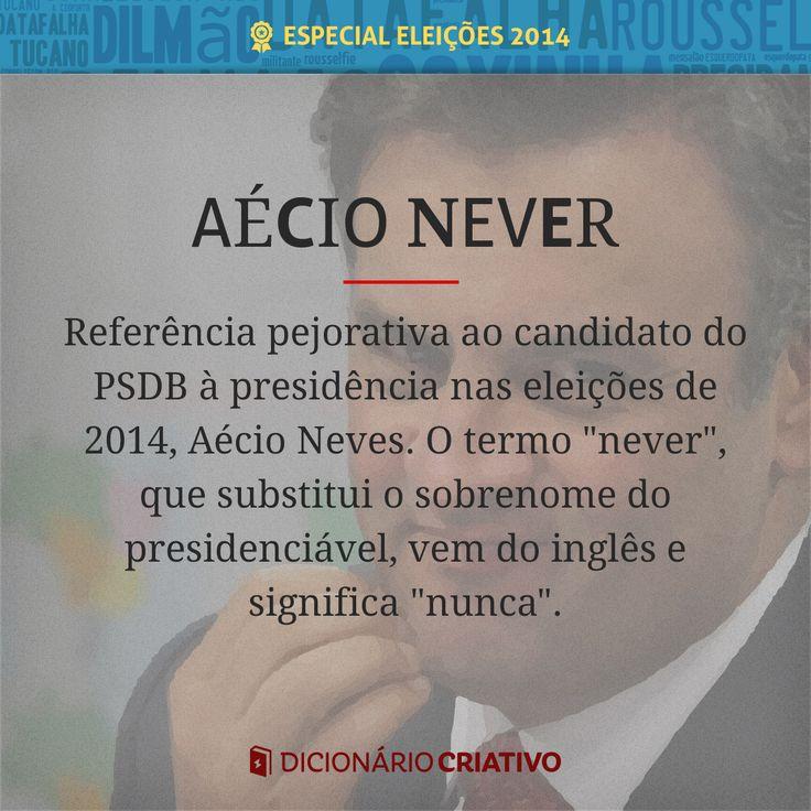 Apelido pejorativo do presidenciável Aécio Neves