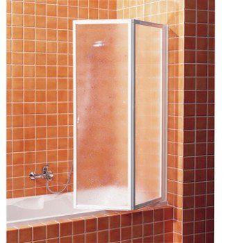 Pare-baignoire 2 volets pivotant pliant H.140 x l.91 cm acrylique granité G02 | Leroy Merlin
