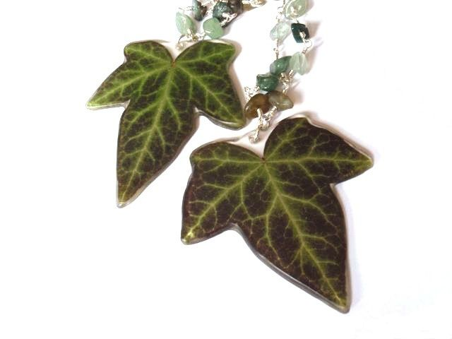 8 best ivy inspirations images on pinterest ivy leaf leaf realivyleafjewelry real ivy leaves made into necklace mozeypictures Image collections