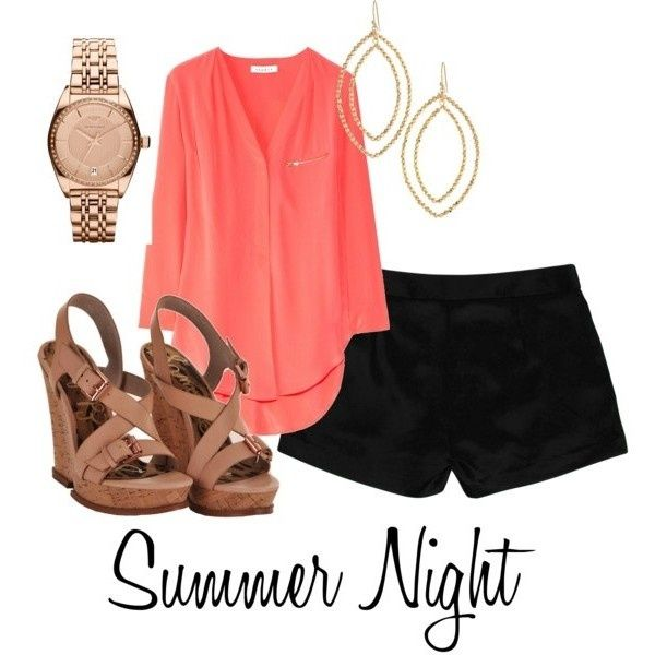 I love this for going to bar during the summer or south FL weather! (i own practically this whole outfit!)
