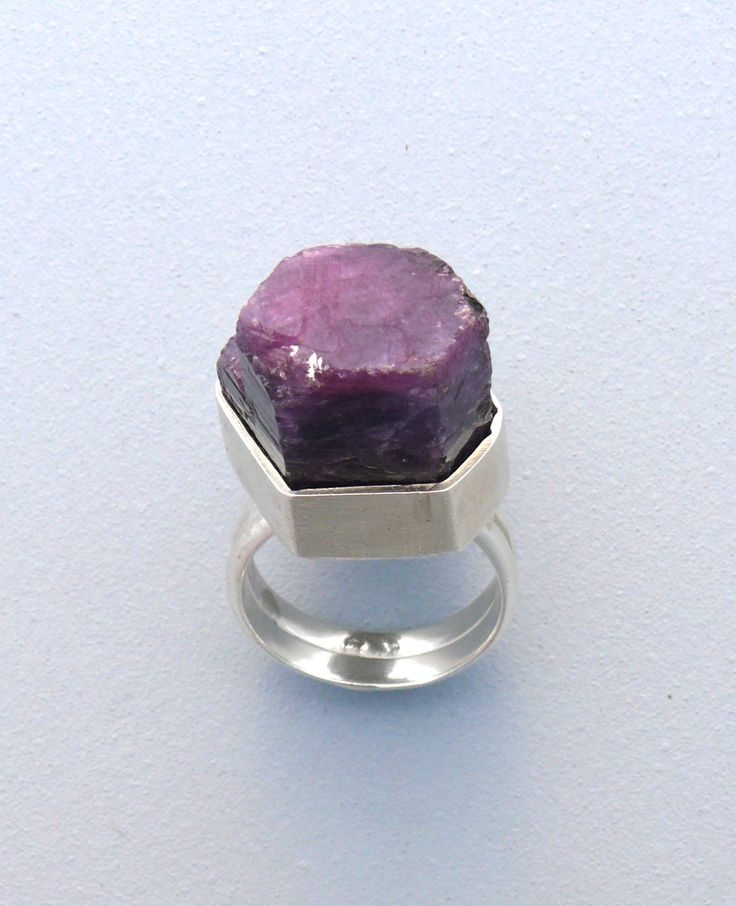 Chunky Ruby Ring- Sterling Silver, Ruby. Sharon Cornthwaite/ CARDOG DESIGN