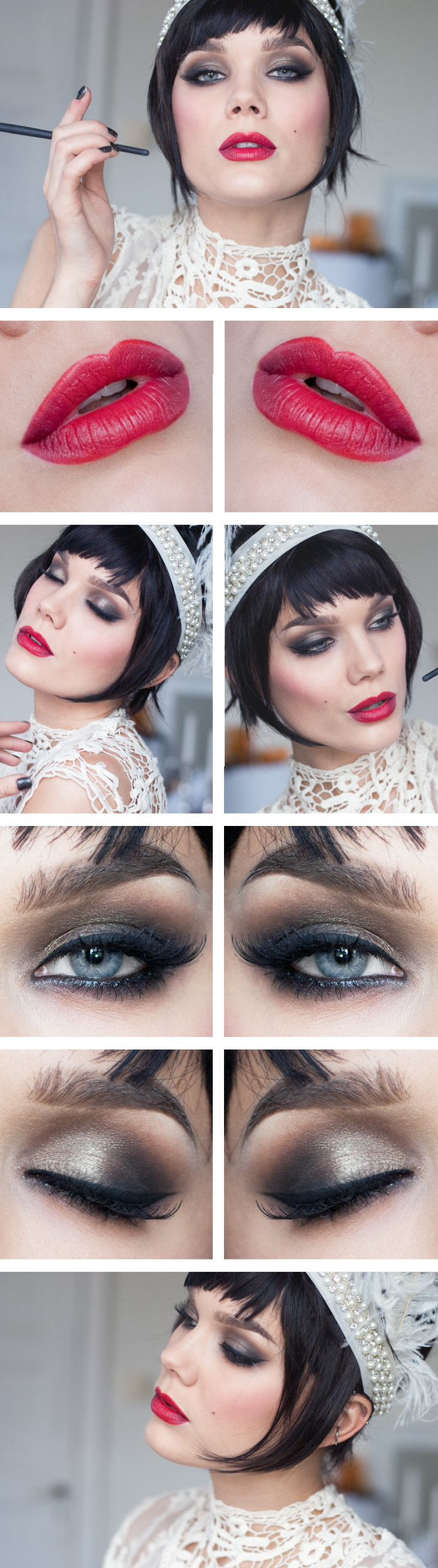 "Todays look: Halloweensminkning – ""The Great Gatsby"" (Lindas Sminkblogg)"