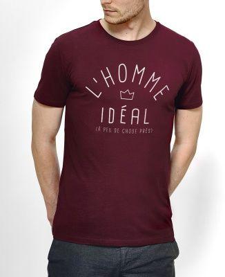 T-shirts Homme Homme Idéal Burgundy Rouge Bordeaux by Monsieur TSHIRT