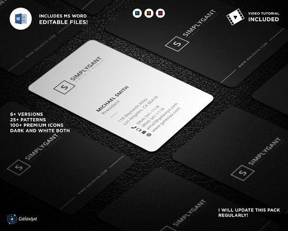 Minimal Vertical Business Cards By Galaxiya On Creativemarket