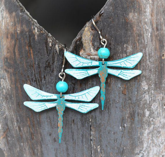 Handcrafted dragonfly earrings by #CinkyLinky