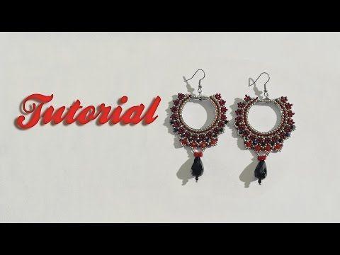 DIY Gipsy Queen Earrings - Come fare orecchini al Brick Stitch - YouTube