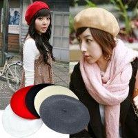 5 colores nueva moda lana cálido mujeres boina Beanie Hat Cap Hot