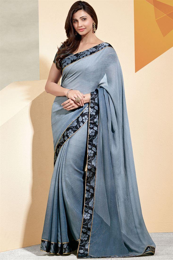 Delectable Daisy Shah Fancy Printed Saree