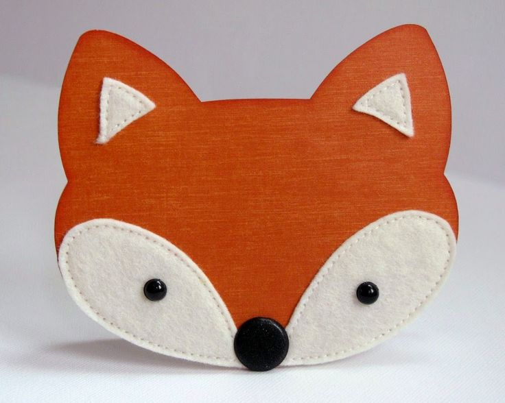 OMG How cute is this Fox card? I am in loooove with these cute little fury animals.