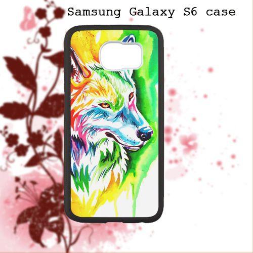 Rainbow Wolf For Samsung Galaxy S6 Case