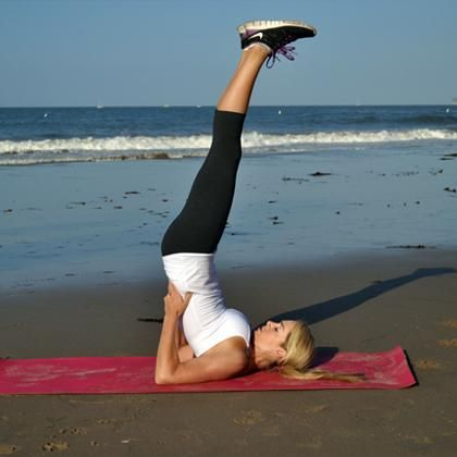 Orig. pinned by @Jessica Wall. Shoulder Stand. Love this back opener blood rushing pose.