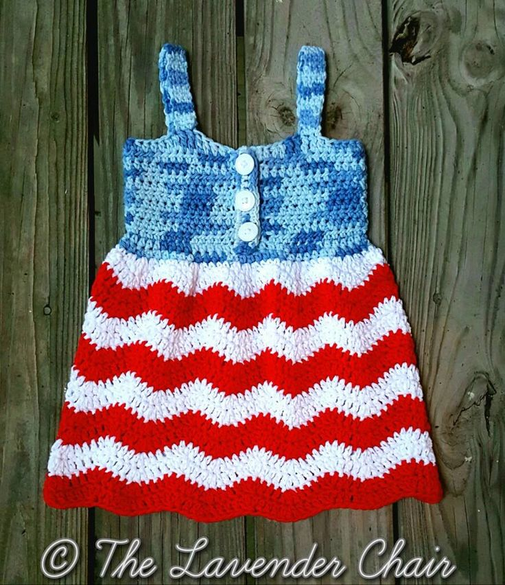 Looking for the perfect dress to show your american spirit!? This Red White and Blue Jean Dress crochet pattern is perfect for the 4th of July.