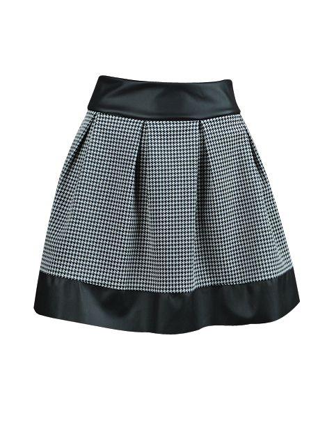 Pepitka- jeden z najbardziej rozpoznawalnych wzorów świata mody na rozkloszowanej spódnicy :)