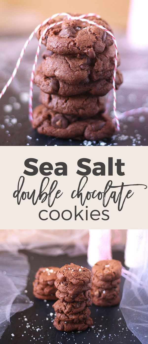 These sea salt double chocolate cookies are a crowd favorite. You can't say no to extra chocolate with sea salt in cookie form! | honeyandbirch.com