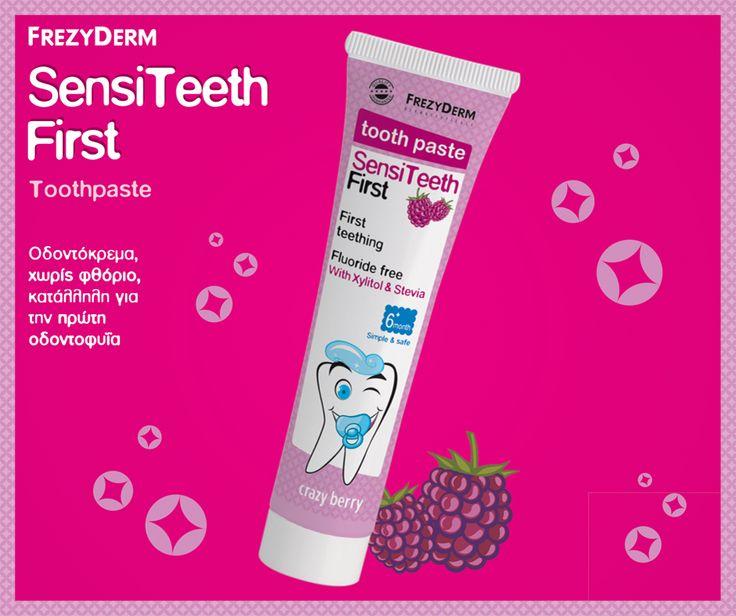 Τα πρώτα δοντάκια βγήκαν και για να μας χαρίσουν πολλά χαμόγελα στο μέλλον θα πρέπει να είναι γερά και υγιή! Με την οδοντόκρεμα για την πρώτη οδοντοφυΐα SENSITEETH FIRST TOOTHPASTE θα προστατεύσουμε τα δοντάκια από την τερηδόνα και την ανάπτυξη μικροβίων. Με καταπληκτική γεύση βατόμουρου! http://www.i-cure.gr/AdvancedSearch.php?Language=el&queryString=sensiteeth