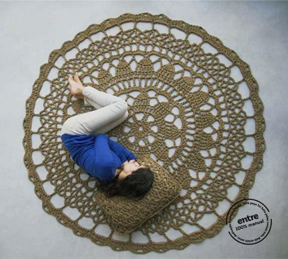 BIG scale handmade crochet rug ENTRE collection  door ENTREDESIGN, €351.00