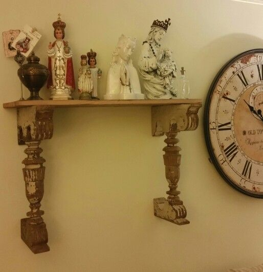 Antique corbels with religious statues.