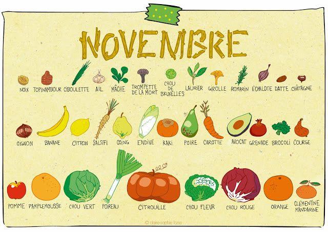 pissenlit: Novembre - Calendrier des fruits et légumes