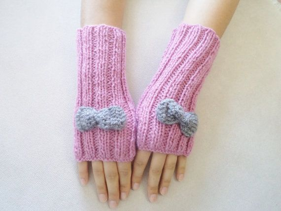 Rose pink Gloves Gloves Women Accessories by BloomedFlower on Etsy, $25.00