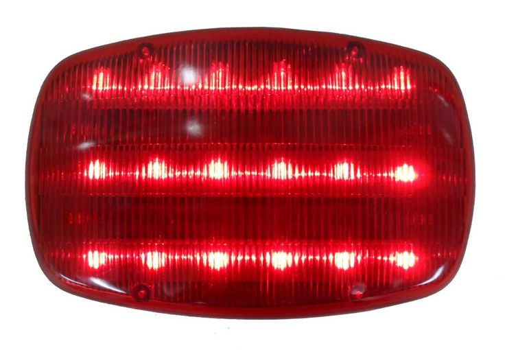 Road Genie Highway Safety Steady / flashing Light With Magnetic Back - 18 Red LED light : ( Pack of 2 Pcs. )