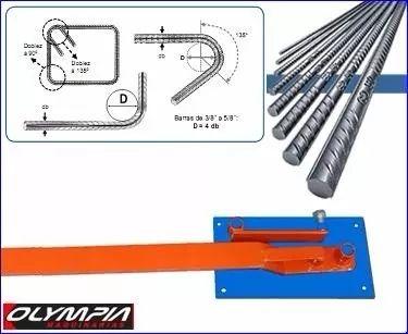 estribera maquina dobladora manual de hierro 4mm .a 12mm