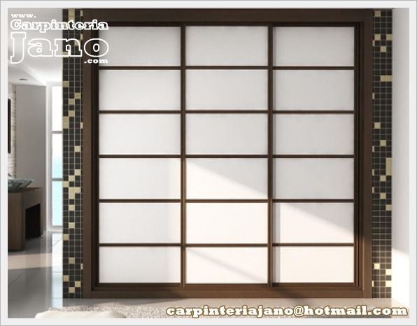 Armario de puertas correderas estilo japones armarios - Puertas correderas japonesas ...