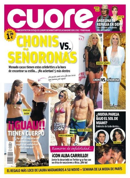 Britney Spears (x2) (date) [10/05/16 issue] #Cuore #Spain