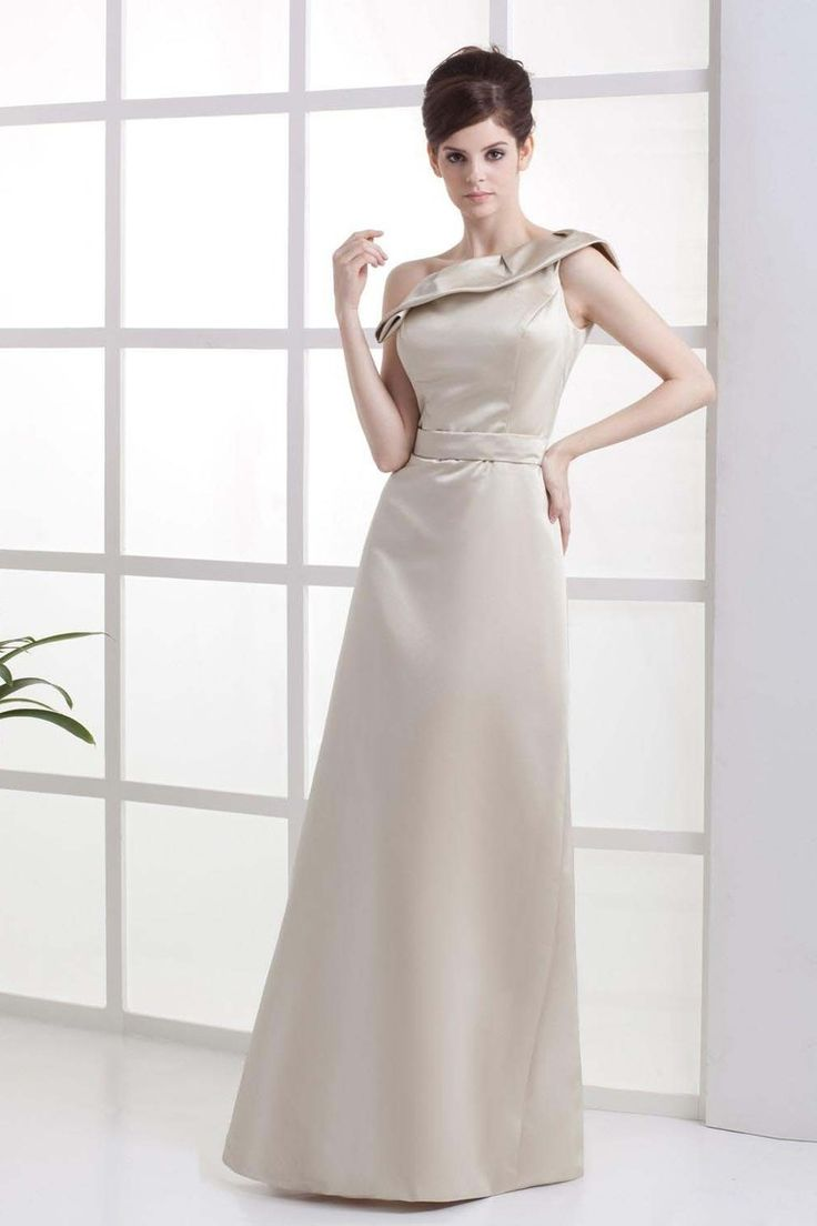 127 best mother of the bride dresses images on pinterest mother satin one shoulder floor length a line bridesmaid dress with ruffle ombrellifo Images