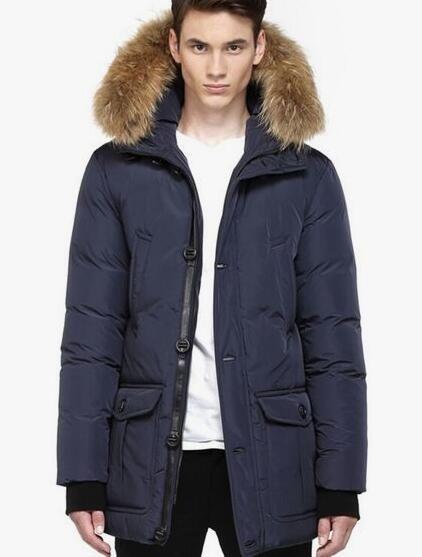 Men Mackage Navy Bryan Fur Trim Hooded Down Winter Parka   #moncler #menjacket #monclercoat #navyblue #nylon #warm #nice