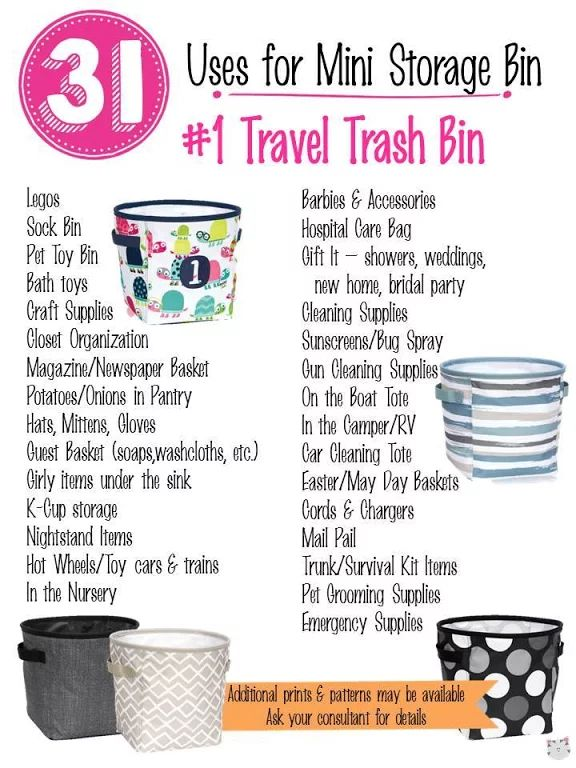 31 Uses for Thirty-One Mini Storage Bin. #Carrie31Bags
