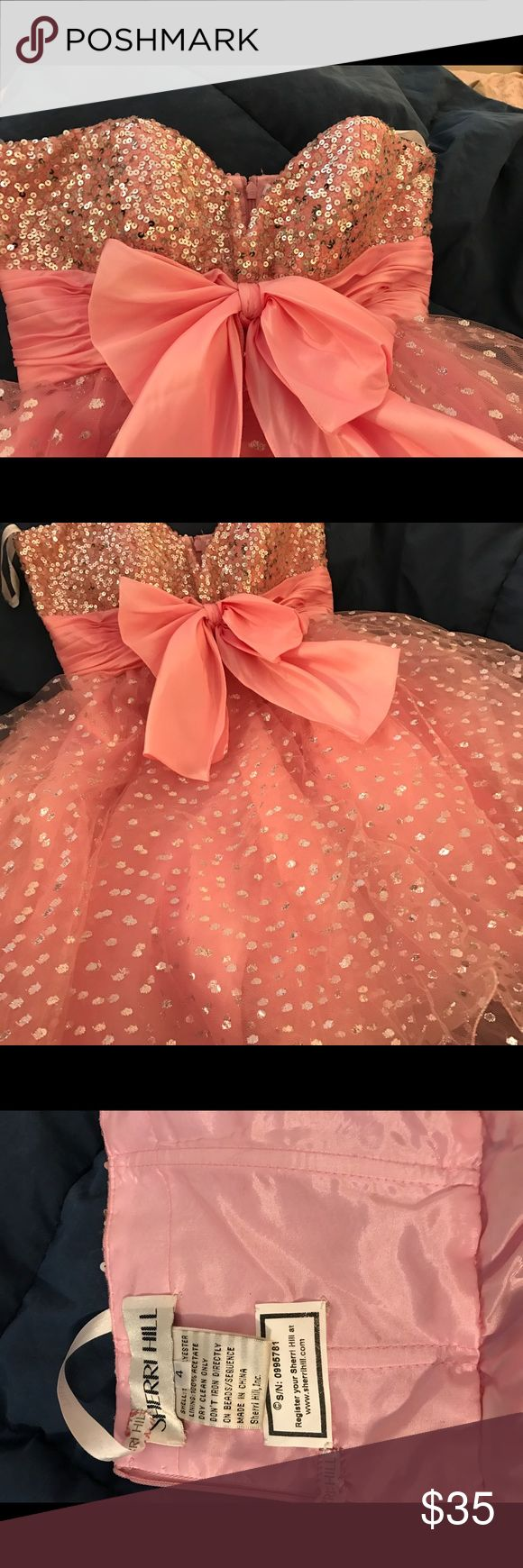 Sherri Hill Dress Cute pink dress with sequined bodice. Size 4. Condition is good, but Dress has been used and is priced accordingly. Sherri Hill Dresses Mini