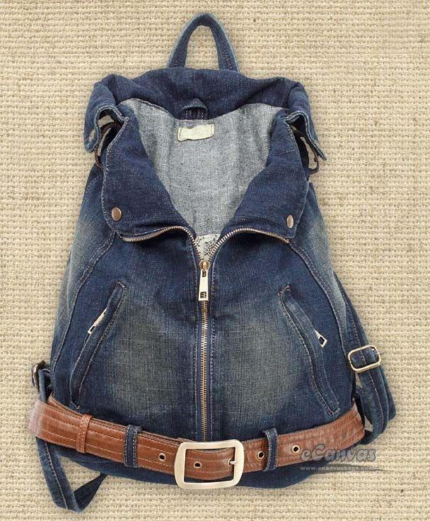 """En härlig jeans """"ryggväska"""""""