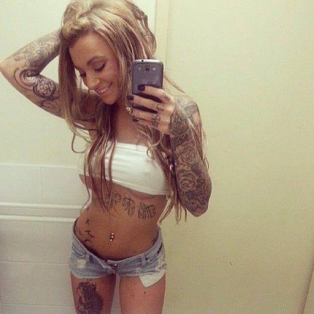 Love the fuck yeah tattoo girls position, for sure
