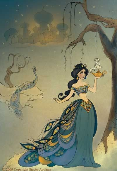 Peacock Dress  Princess jasmine or aladdin in general still pretty