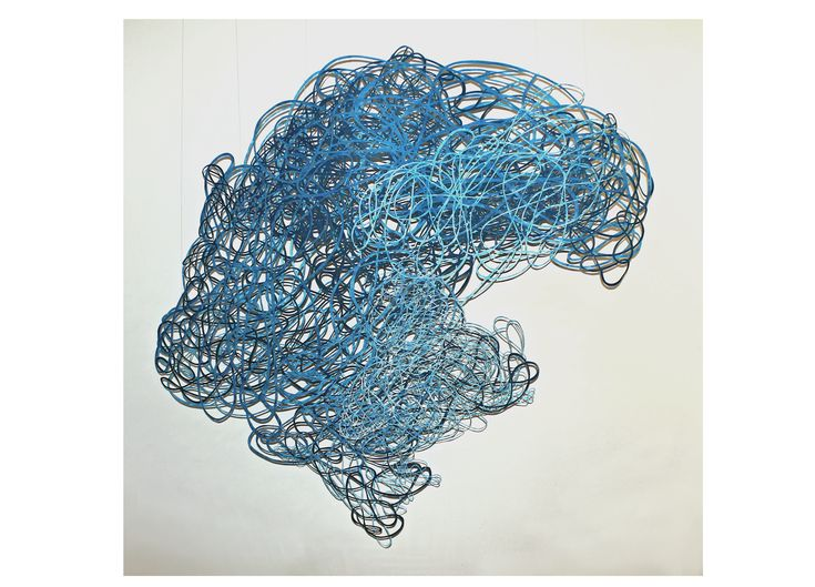 Papercut art . Vientos enmarañados, 1.50 x 1.80 m