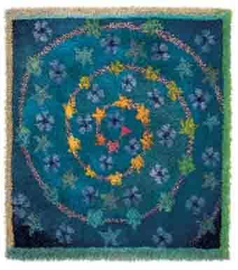 Rya rag Tähtipolku (The Path of Stars) by Finnish textile artist Sirkka Könönen.