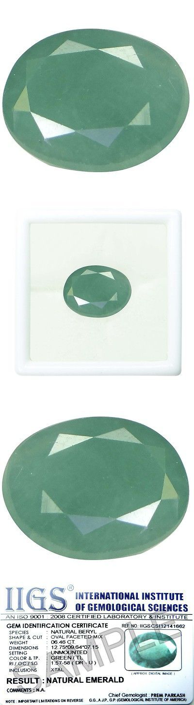Other Emeralds 164398: 6.24 Ct./6.93 Ratti Pure Iigs Certified Emerald Panna Stone Agj1425 -> BUY IT NOW ONLY: $153.41 on eBay!