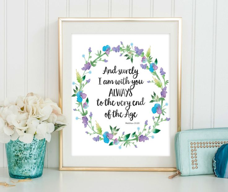 Scripture Quote Print - Bible Verse Wall Art - Dorm Decor - Inspirational Quote - Bible Verse Print - Religious Quote - Digital Download by SmudgeCreativeDesign on Etsy