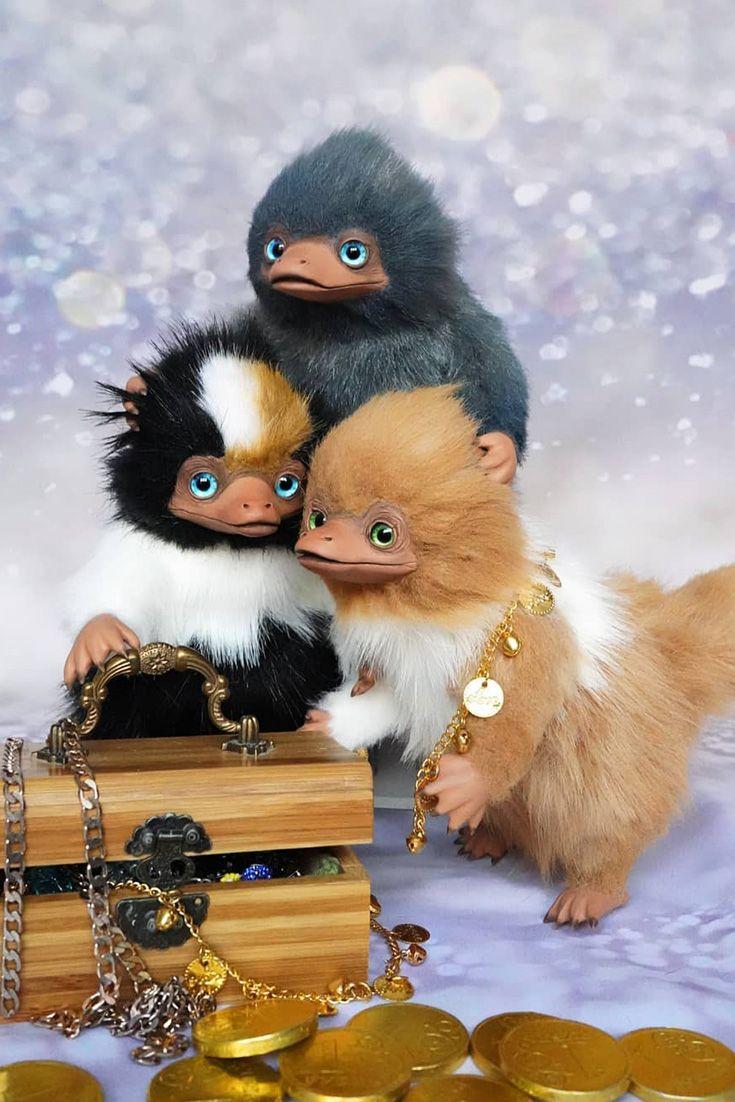 Niffler Toy Handmade Artist Doll Art Dolls Dolls Handmade
