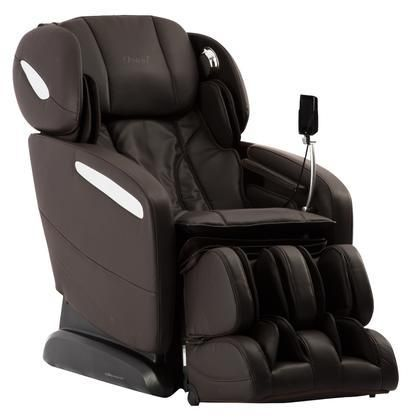 OS-Pro-Maxim BROWN Massage Chair with SL Track Roller 12 Auto-Programs 6 Massage Styles Zero Gravity Position Multi-Language Option and Hip Air Massage in Brown