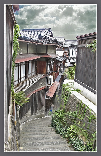 Back street of Kanazawa, Japan  (Normally don't like adding photo shopped stuff, but this look is cool)